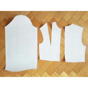 Konstrukcja formy bluzki dopasowanej