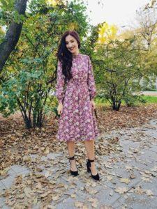 Sukienka z japońskiej bawełny