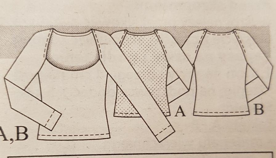 bluzka reglanowa damska wykrój