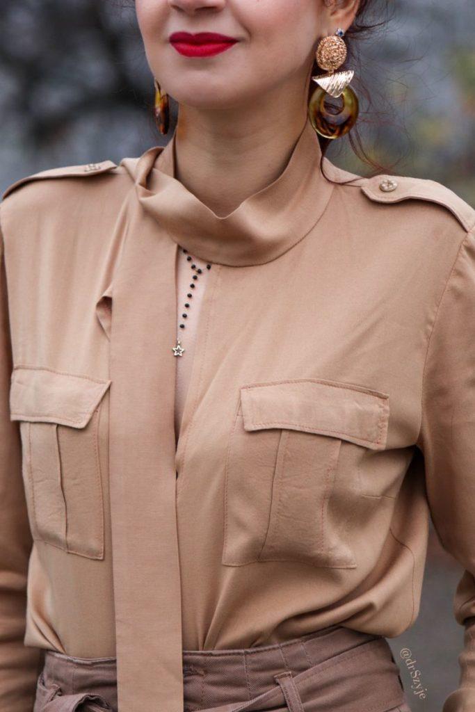 koszula z pagonami damska