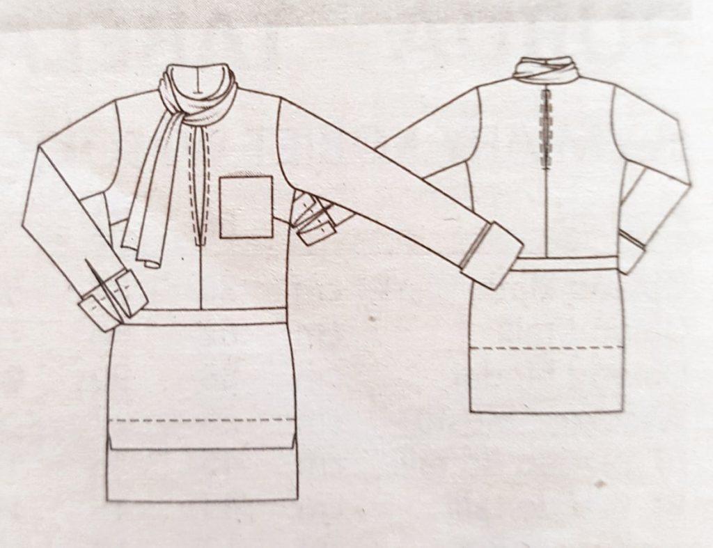 koszula z pagonami wykrój