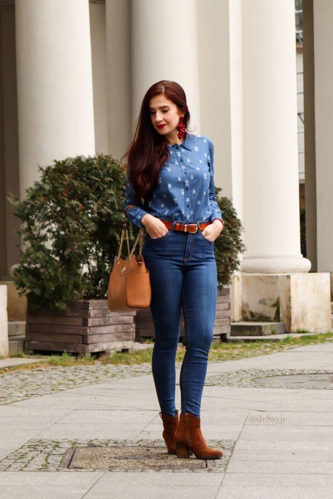 koszule jeansowe damskie