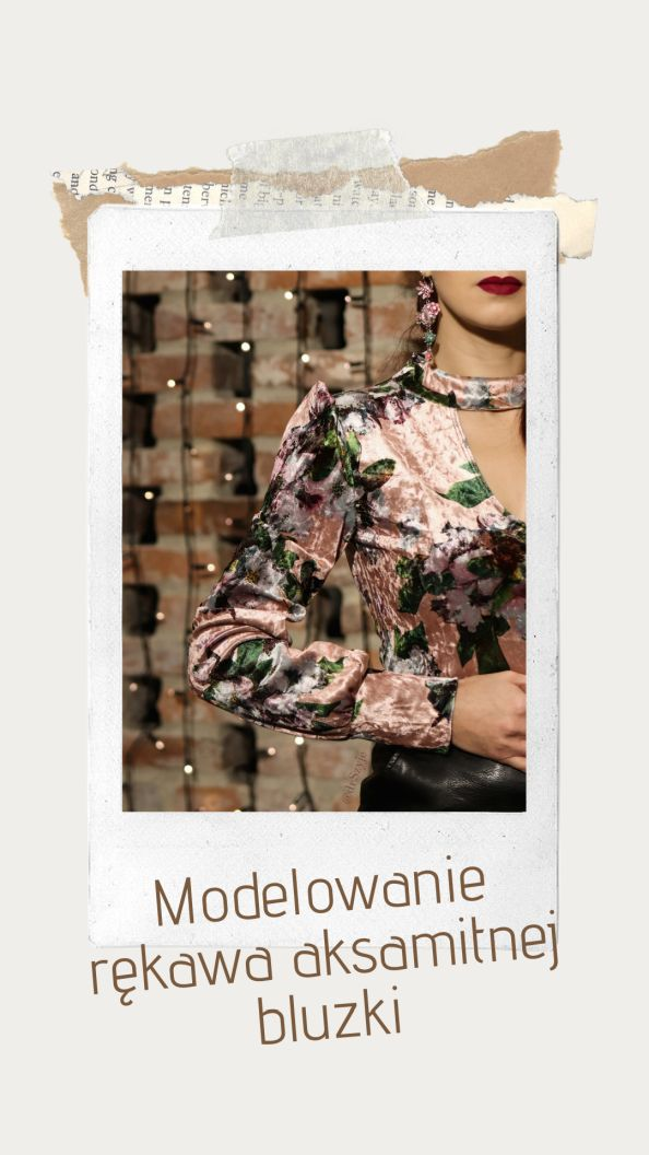 Modelowanie rękawa bluzki