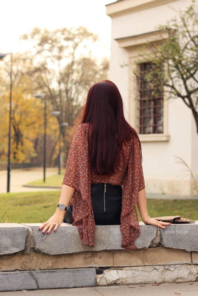 bluzka z długimi rękawami